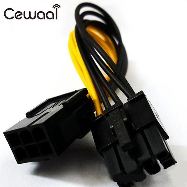 Cewaal PCI 6 pin to 8 pin graphic card Cable power adapter cable ...