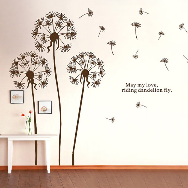 Merveilleux Dandelion Wall Sticker Flower Wall Stickers For Living Room Dandelion Wall  Decals Dandelion Wall Art Flower Home Decor 695 In Wall Stickers From Home  ...