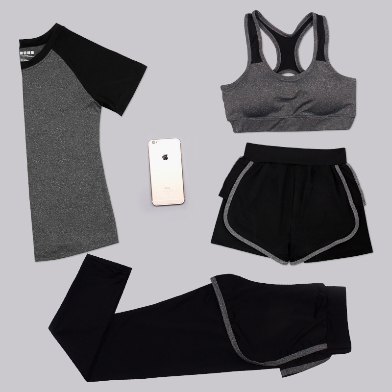 Aipbunny 4 Pieces Yoga Sets 2017 Gym Fitness Women Exercise Activewear Running Suits Plus size XXXL Workout Clothing SportsWear 1