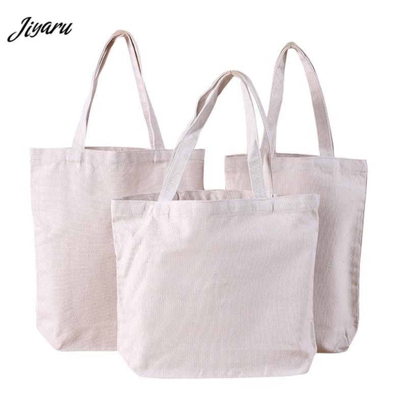 Handbag Tote-Bag Canvas-Bag Grocery Reusable Cotton Casual Women Daily-Use