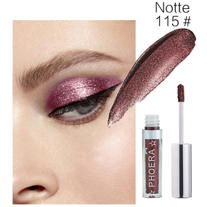 Image 5 - PHOERA 16Color Liquid Eye shadow Pencil Shimmer Eyeshadow Waterproof Long lasting Glitter Eyeshadow Eye Makeup Palette TSLM2
