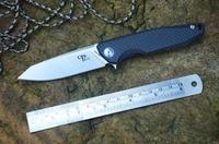 CH Brand 3004 AUS 8 Blade Folding Knife Ball Bearings Titanium Carbon Fiber Handle Reverse Tanto