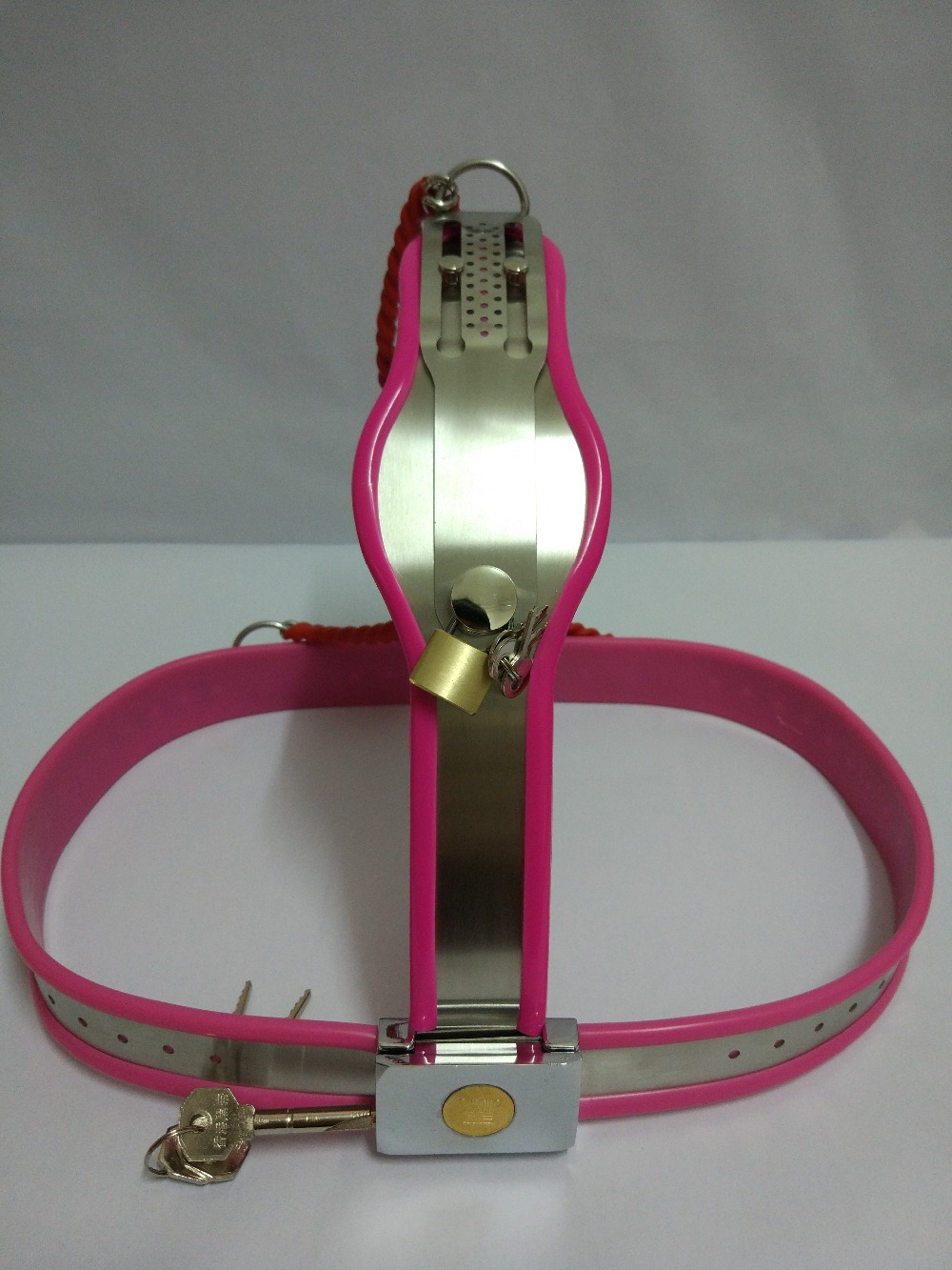 Sex tools shop for sale stainless steel female chastity device belt adult sex toys bdsm fetish bondage toys sextoys for women. adult games sexy latex device sex fetish toys hot sale rubber hanging neck chest tight wrapped tools for women