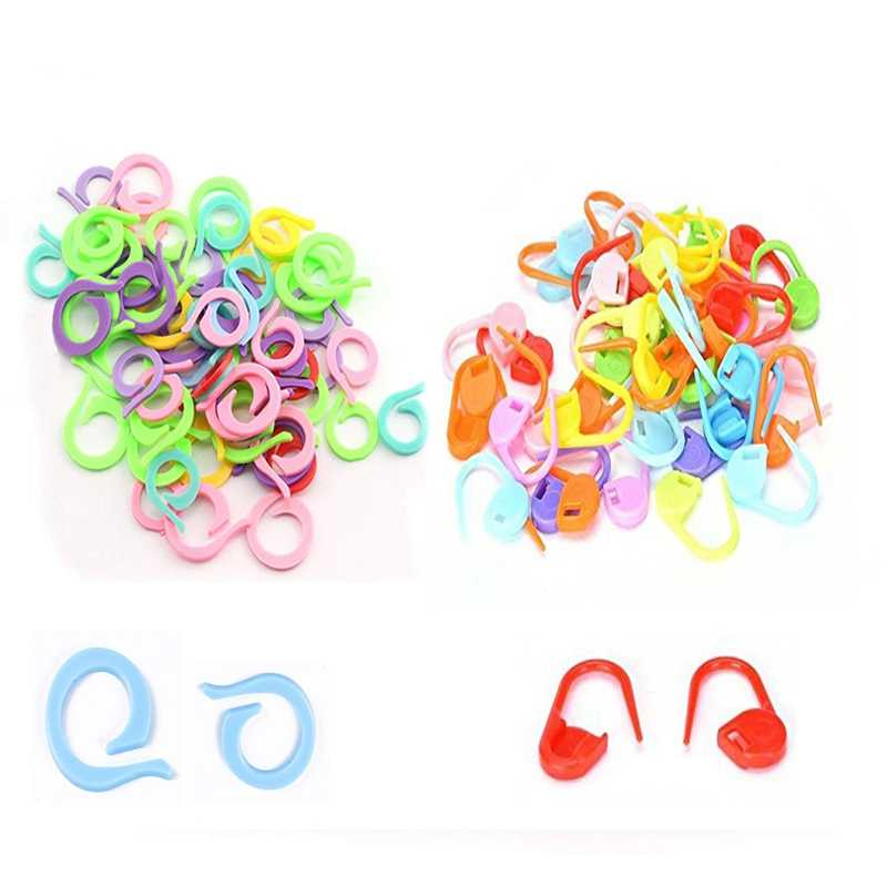 20 Pieces Multi Color Plastic Needle Clip Hook 2 Sizes Knitting Needle Row Counter fit for Sewing Tools