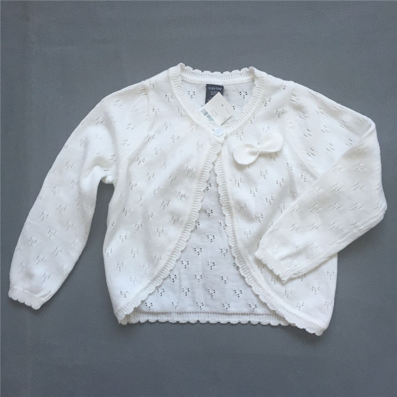 a66c17925 Kids Autumn Spring Sweater Coat Baby Cute Pure White Color Outerwear ...