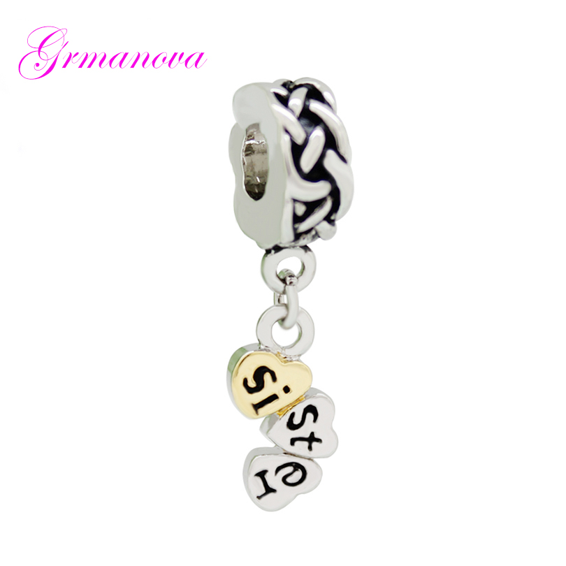 Little sister Huge sale Charm Fits European style Bracelet//necklace charm only