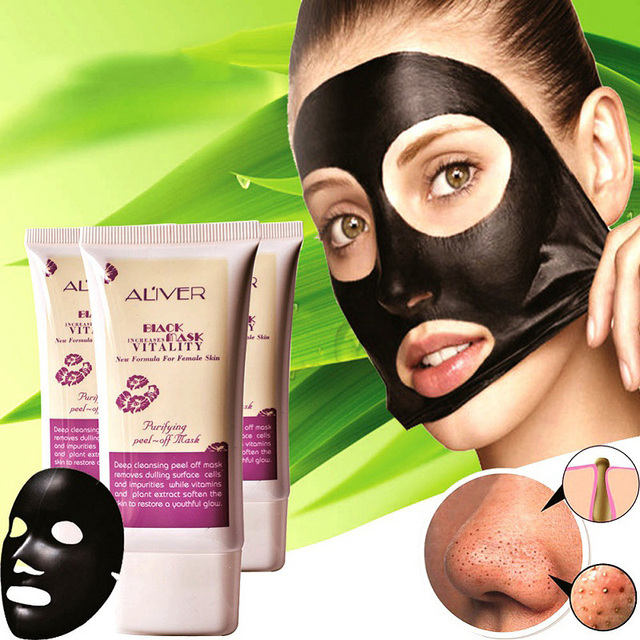 Purifying Blackhead Remover Peel-Off Facial Cleaning Black Face Mask for  men women 6538d372bf