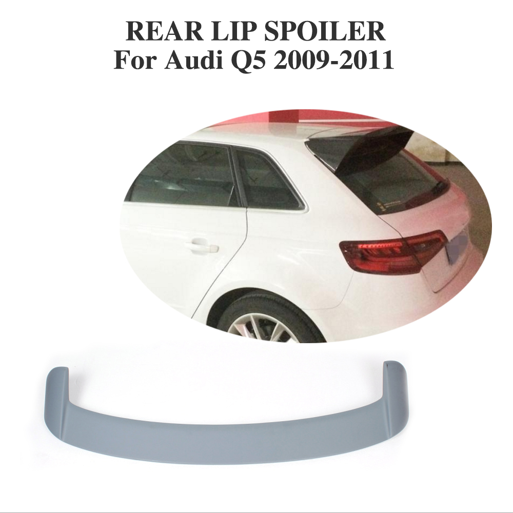 Rear Roof Spoiler Window Wing Lip For Audi Q5 2009-2011 PU Unpainted Grey C Style Car Tuning Parts for 09 10 11 mazda 6 2nd vrs style roof spoiler wing unpainted puf