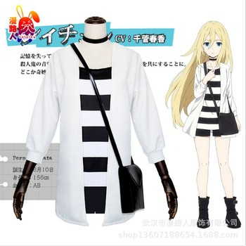 Anime ángeles de la muerte Ray disfraz Cosplay traje de Cosplay para mujeres de Cosplay de racy Garland Satsuriku no Tenshi Cos conjunto completo con bolsa