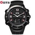 OTS Брендовые мужские спортивные часы с двойным дисплеем компас наручные часы водонепроницаемые военные уличные часы
