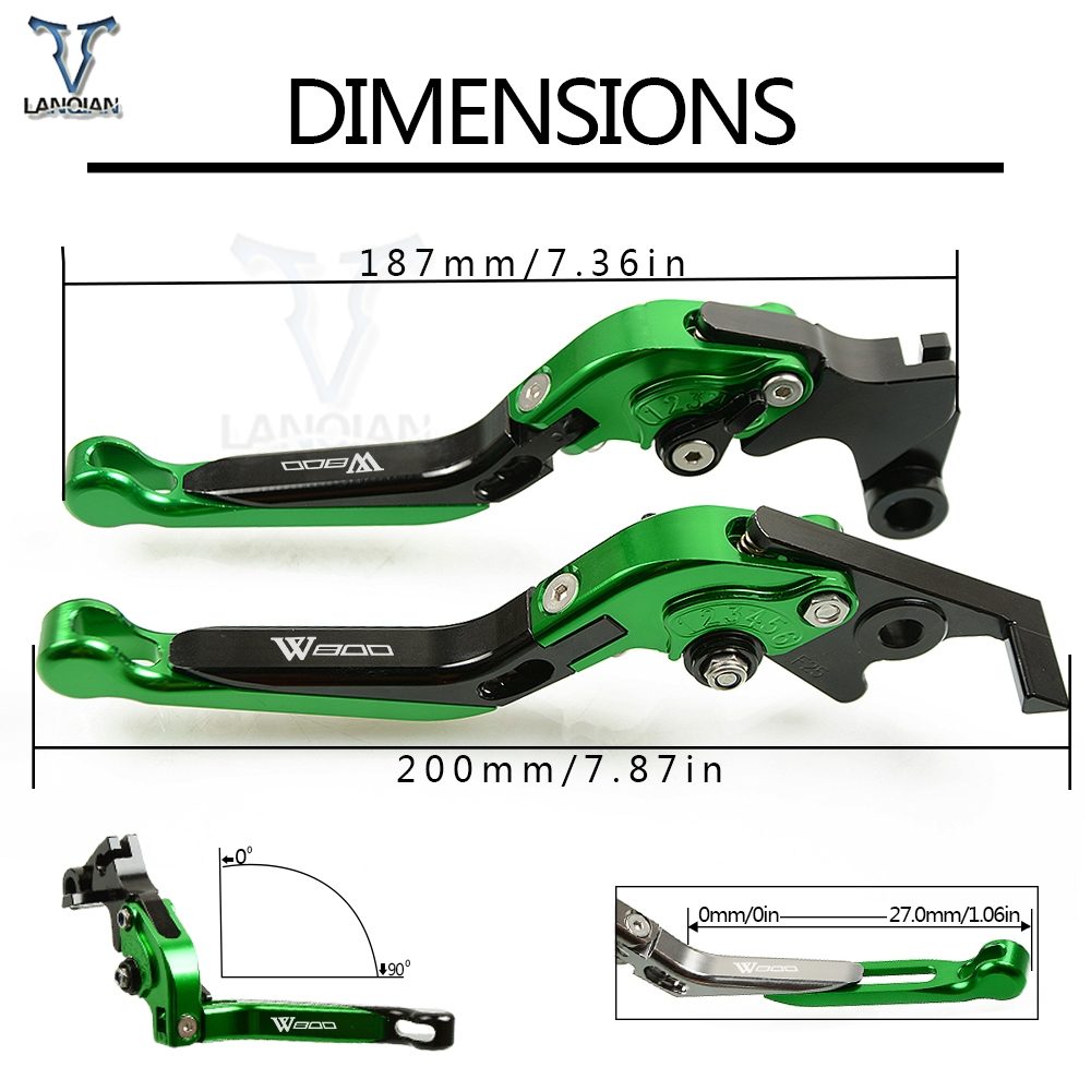 Image 5 - CNC Adjustable Foldable Extendable motorcycle Brakes Clutch Levers For KAWASAKI W800/SE 2012 2016 GPZ500S/EX500R NINJA 1990 2009-in Levers, Ropes & Cables from Automobiles & Motorcycles
