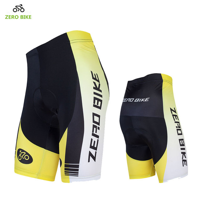 ZERO BIKE High Elasticity Quick Dry Cycling Shorts Outdoor sports 4D GEL  Padded Cycling clothing Bermuda ciclismo Yellow Hot 02095e568