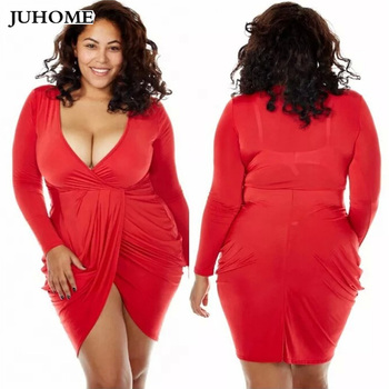 3xl Plus Size Women Clothing Summer red Dress Female Tunic Big Size 2018 Sexy Bandage Dress club wear short party dress Vestidos