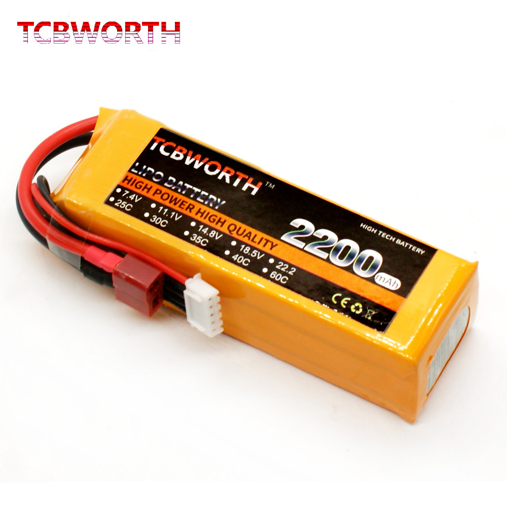 TCBWORTH 3S 11.1V 2200mAh 40C Max 80C RC LiPo battery For RC Airplane Helicopter Quadrotor High Rate Cell RC Li-ion battery