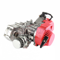 49cc 50cc 2 Stroke Engine With Gear Box T8F 11T Sprocket New Metal Recoil Racing AIR For Mini Dirt Bike ATV engine
