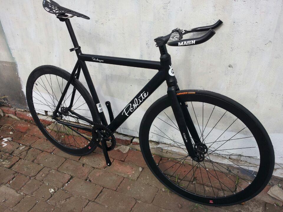 Pco bici fija del engranaje marco de aluminio y cinelli manillar ...