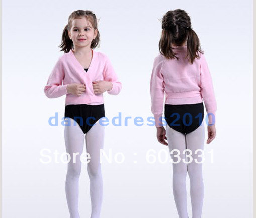 NWT Girls Party Gymnastics Ballet Crossover Wrap Dance Sweater Dress Kids Coat 5-8 Pink - dance dress store