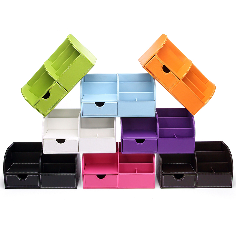 Купить с кэшбэком Ever Perfect Desktop Organizer Stationery Box 7 Compartments Large Storage Box with Drawer Pencil Pot Pen Holder Home Organizer