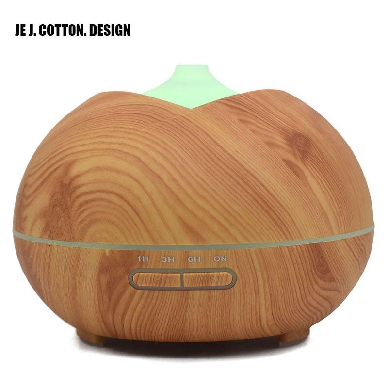 400 мл древесины увлажнитель ароматерапии эфирное масло Арома диффузор для дома ультразвуковой увлажнитель воздуха Fogger Mist чайник свет