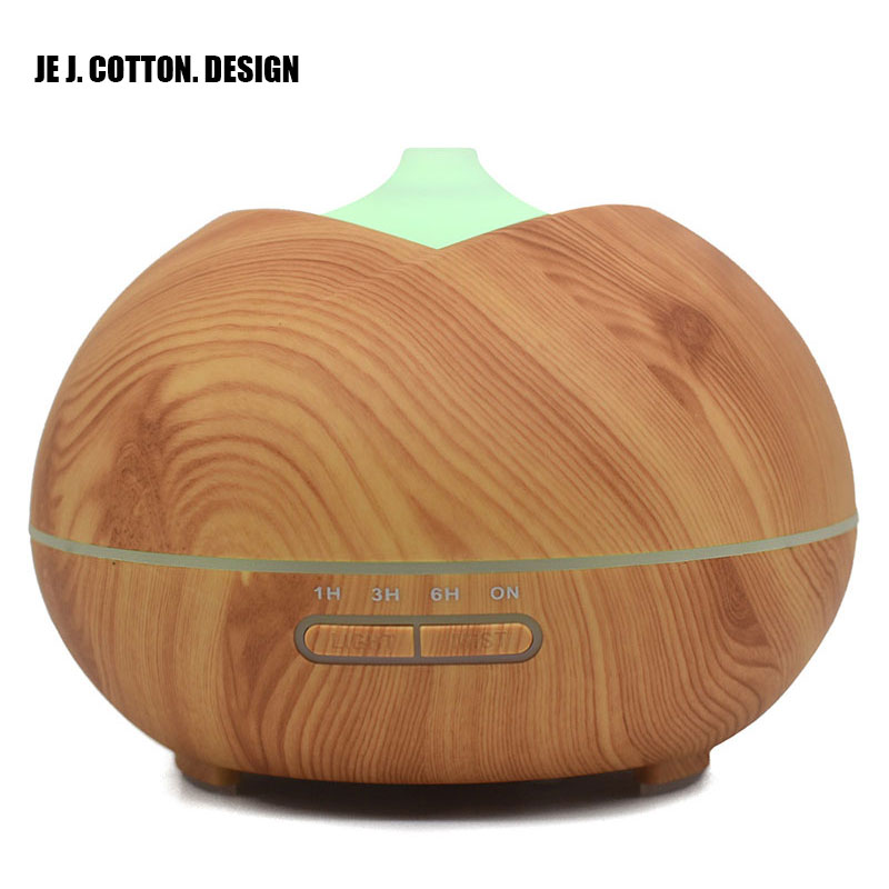 400ML Wood Grain Humidifier Aromatherapy Essential Oil Aroma Diffuser for Home Ultrasonic Air Humidifier Fogger Mist Maker Light bomeineng wood grain mini air humidifier ultrasonic mist maker fogger water electric aroma diffuser oil aromatherapy humidifiers