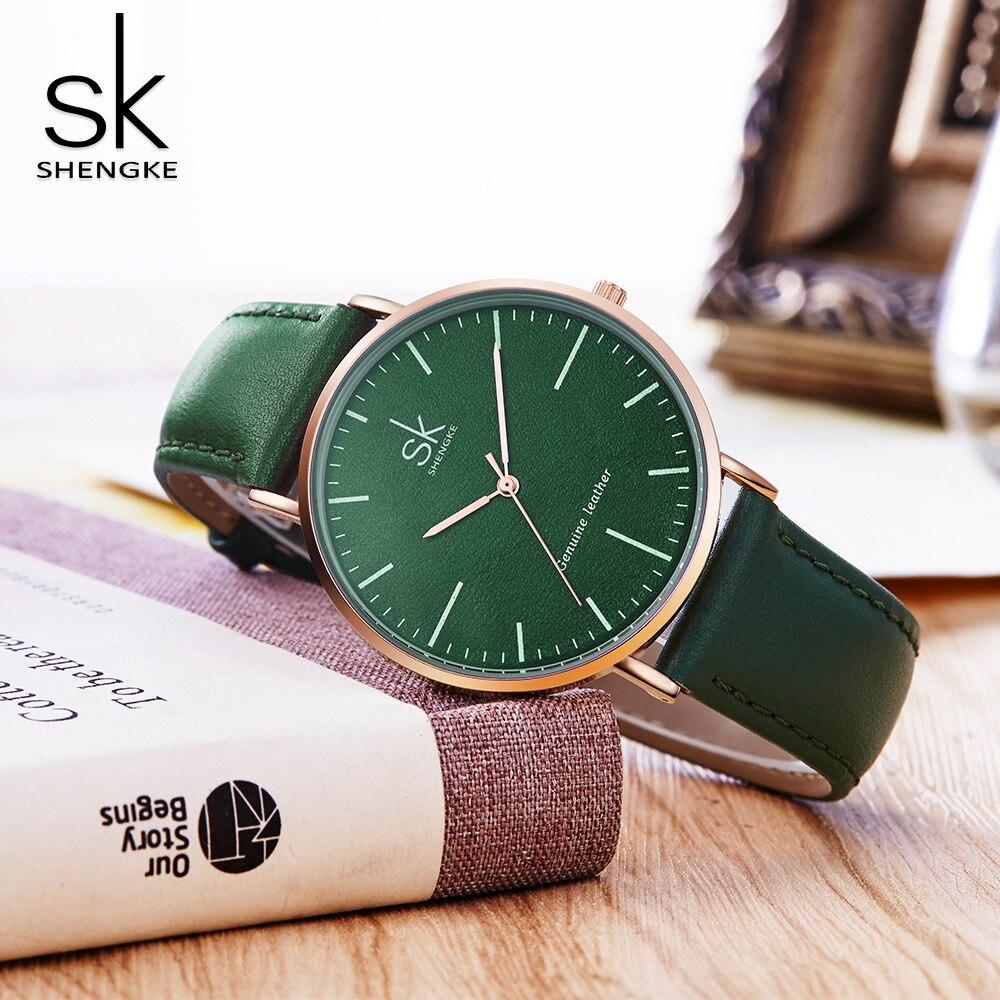 Shengke SK Brand Fashion Women Quartz Watch  Ladies Casual Leather Strap Watches Women Clock Montre Femme Relogio feminino