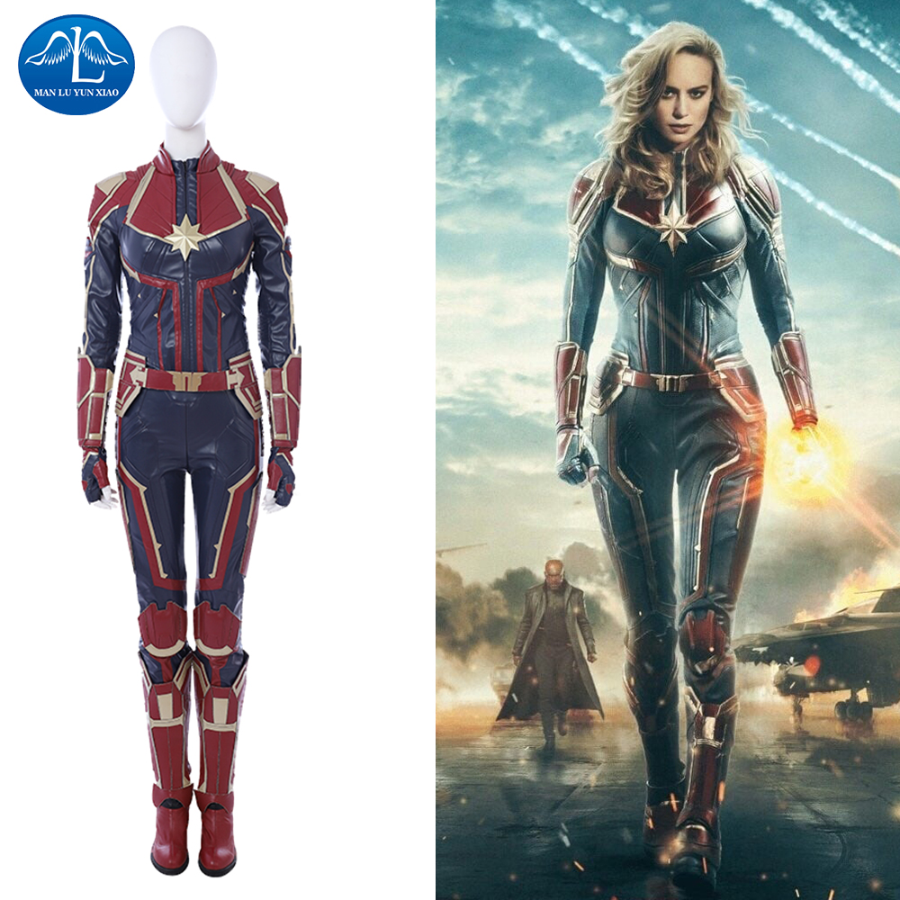 captain marvel cosplay costume women ms. marvel carol danvers