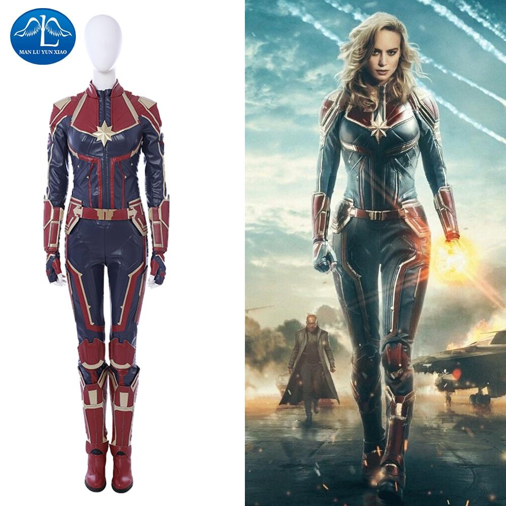 captain marvel cosplay costume women ms. marvel carol danvers