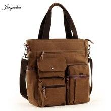Jorgeolea Men Canvas Business Briefcase Versatile Casual Handbag For Men Travel Satchel E502