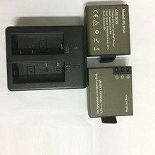karue 2Pcs Battery Dual Charger For EKEN H9 H9R H3 H3R H8PRO H8R H8 pro SJCAM