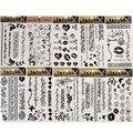 4 Шт./компл. Временные Татуировки Арабский Узор Наклейки Поддельные Татуировки Графический Черный Наклейка Съемный Водонепроницаемый