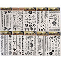 4PCS/Set Temporary Tattoo Arabic Pattern Sticker Fake Tattoo Graphic Black Decal Removable Waterproof