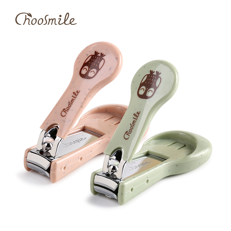 Choosmile Cute Nail Clipper Cutter High Quality Nail Clippers Manicure Trimmer with Nail File and Catcher Catches Nail Clippings in Clippers Trimmers from Beauty Health