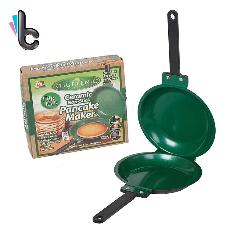 Flip Jack Pan Ceramic Pancake Maker Big Size Fry Cake Pan Non-stick Fryer Cakeware Double Sided Frying Pan -4
