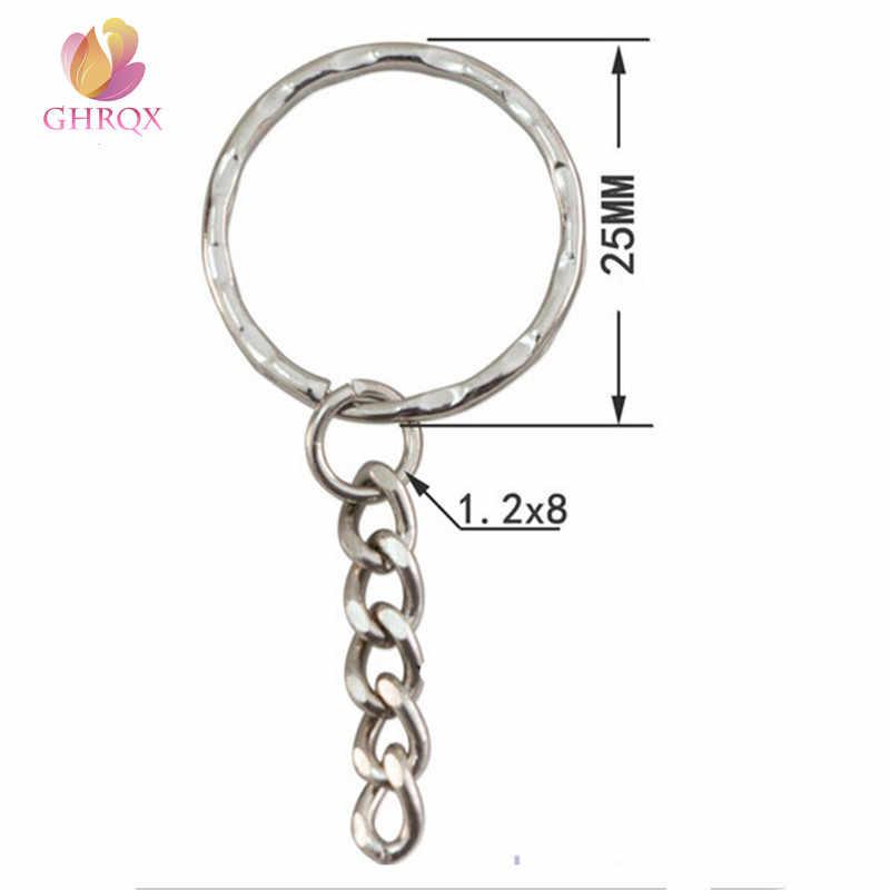 GHRQX ขายโลหะร้อนแหวน Key Antique Bronze GOLD โรเดียมสี Keyrings แยกแหวนพวงกุญแจขายส่ง