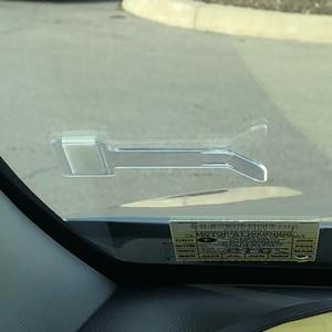 Image 4 - 2pcs/4pcs Car Vehicle Parking Ticket Permit Holder Clip Sticker Windscreen Window Fastener Stickers Hook Kit For Car Accessories