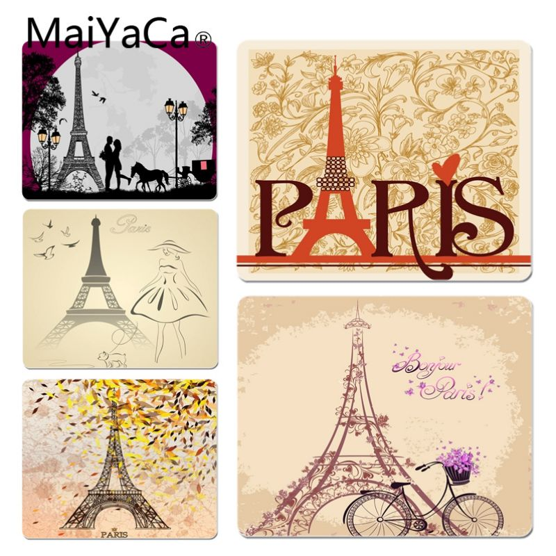 MaiYaCa Funny Eiffel Tower Customized laptop Gaming mouse pad Size for 180*220 200*250 250*290 Hot Mouse Pad