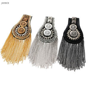 Ornaments Chain Jewelry Crafts Decoration Tassel Shoulder-Board Catwalk Metal Vintage