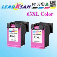 2 uds 63XL cartucho de tinta de color compatible con hp63 63XL DeskJet 1112/2130/2132/3630/3632/Office ejet 3830/4650/465