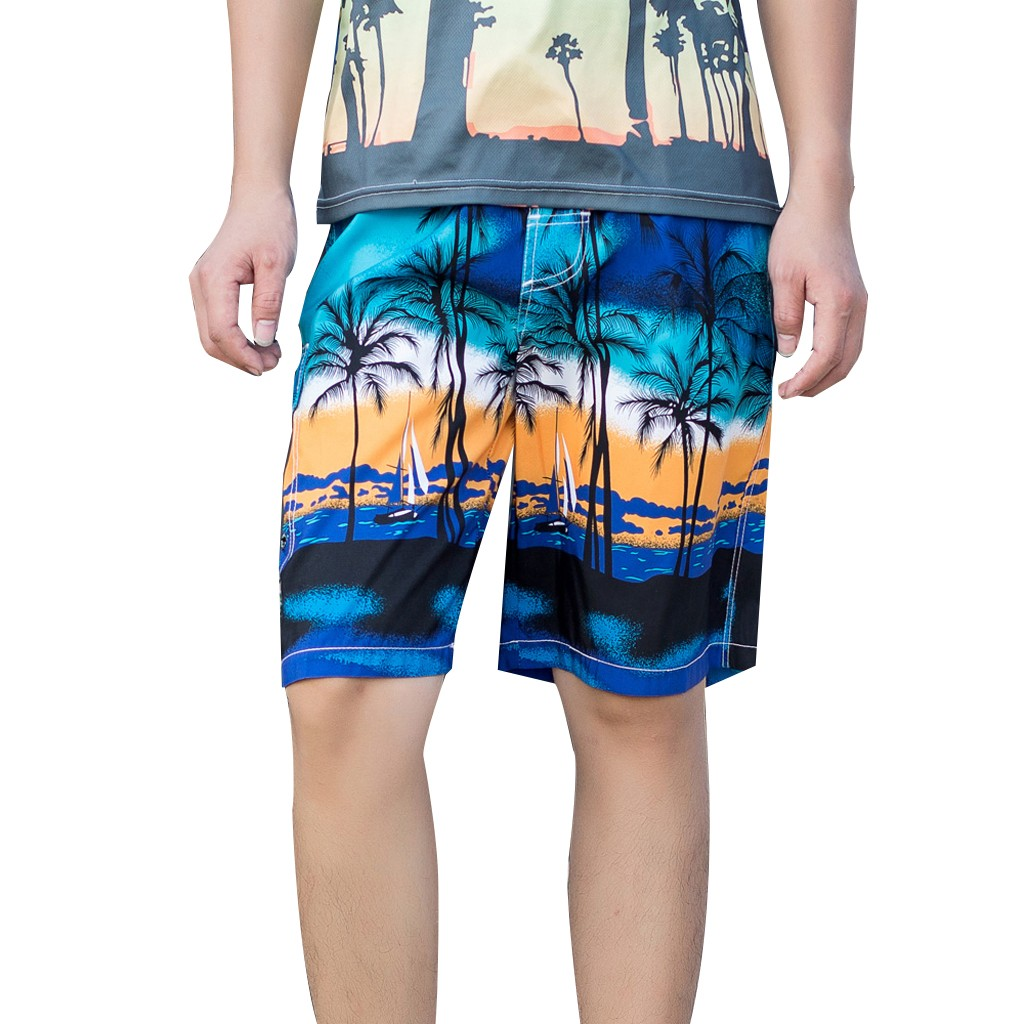 Leisue Color Wheel Quick Dry Elastic Lace Boardshorts Beach Shorts Pants Swim Trunks Mens Swimsuit with Pockets