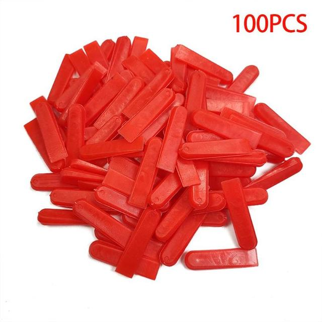 100pcs/set Level Wedges Tile Spacers for Flooring Wall Tile Leveling System Flooring Wall Tile carrelage Leveling System Leveler