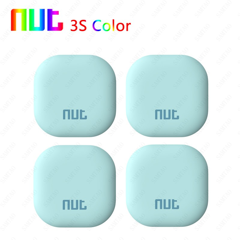 4 Pieces Smart Tag Nut Color 3s Tracker Child Bag Wallet Key Finder GPS Locator Alarm Pet Phone Car Lost Remind anti-lost finder 5 pacs wireless smart finder tag tracker anti lost key bag wallet finder useful kids pet tracer lost reminder free shipping