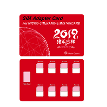 Nano Card and pin holder, Holds 8 pcs Cards lphone pin(Red)