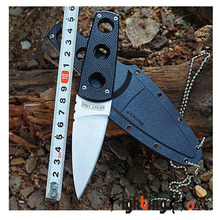 Cold Steel 440C Fixed Blade Knives G10 handle Secure-Ex Neck Sheath Tactical Camping knives