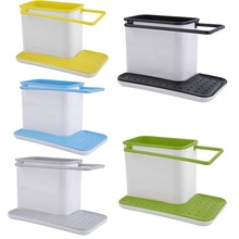 Free Shipping High Quality New 3 in 1 Plastic Racks 4 Colors Organizer Storage Kitchen Sink Utensils Holders Hop Sale