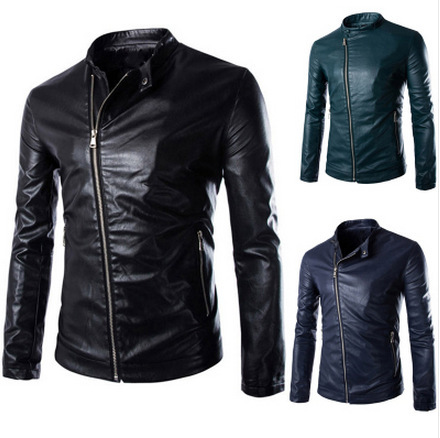 Compare Prices on Mens Dark Green Leather Jacket- Online Shopping ...