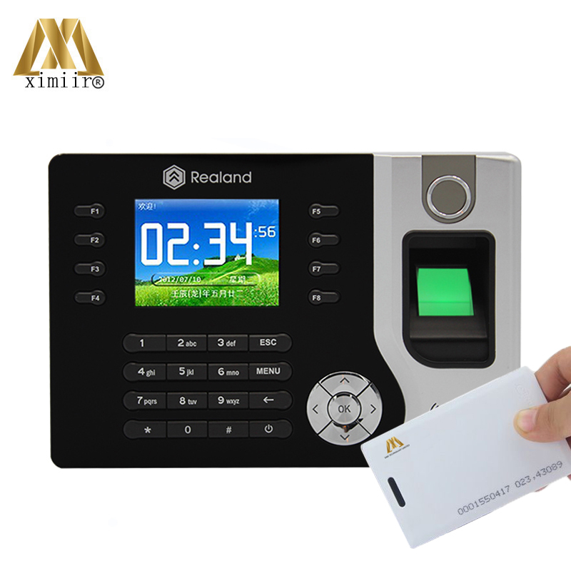 Free Shipping Fingerprint Time Clock A-C071 RFID Card Attendance Employee Realand TCP/IP Time Clock With P2P Cloud Service