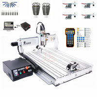 CNC Machine 4Axis USB Port Mini CNC 8060 2200W Spindle Metal Cutting March3 ER20 Collet CNC Router Milling Machine