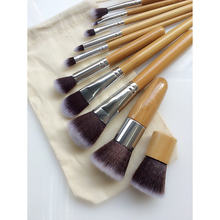10 unids/bolsa profesional cepillo cosmético herramientas de belleza limpiador kit mezcla oval conjunto polvo trucco kabuki sgm desnudo de sombra de ojos conjuntos