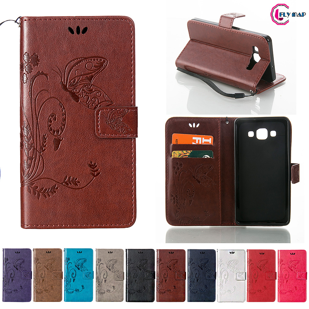 Coque for <font><b>Samsung</b></font> <font><b>Galaxy</b></font> <font><b>A5</b></font> 2015 A500 <font><b>A500FU</b></font> Case Phone Leather Cover <font><b>SM</b></font>-A500 <font><b>SM</b></font>-A500F <font><b>SM</b></font>-A500H <font><b>SM</b></font>-<font><b>A500FU</b></font> Butterfly Flip Case image