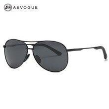 AEVOGUE Polarized Sunglasses Men Oversized Alloy Frame Polit High Quality with UV400 Protection Male Sun Glasses AE0583